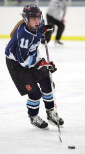 Teenage Female Hockey Player