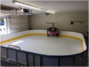 Garage synthetic ice pad