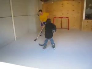 Indoor synthetic ice