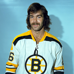 Derek Sanderson showing off a great hockey player mustache