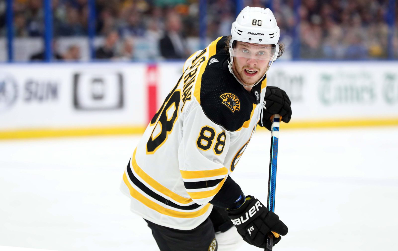 David Pastrnak uses Bauer hockey equipment