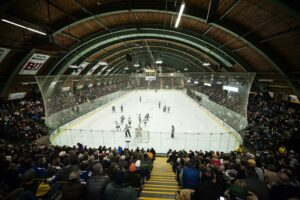 Gutterson Fieldhouse at the University of Vermont is one of the best college hockey rinks