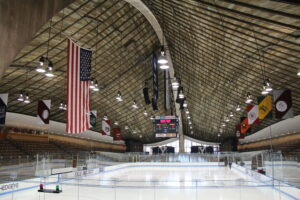 Its unique design helps make the Yale Whale one of the best college hockey rinks