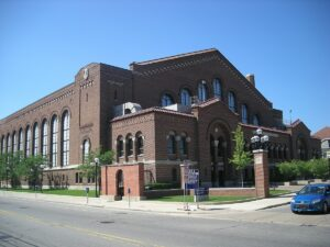 Its stately architecture helps make Yost Arena one of the best college hockey rinks